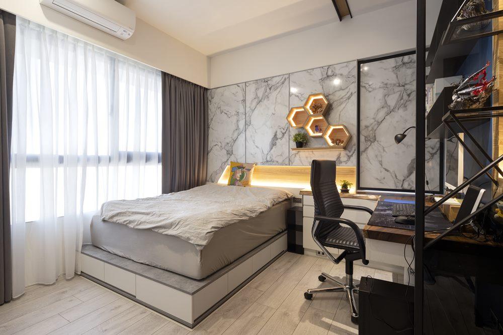 簡約風臥室空間設計優渥實木家具